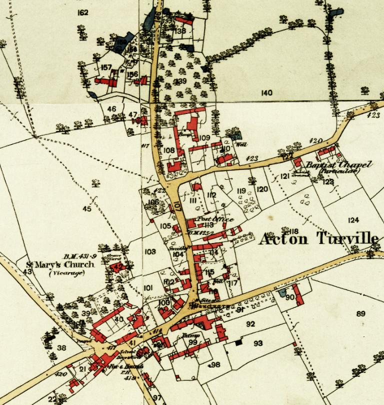 Circa 1880 Ordnance Survey Map Acton Turville