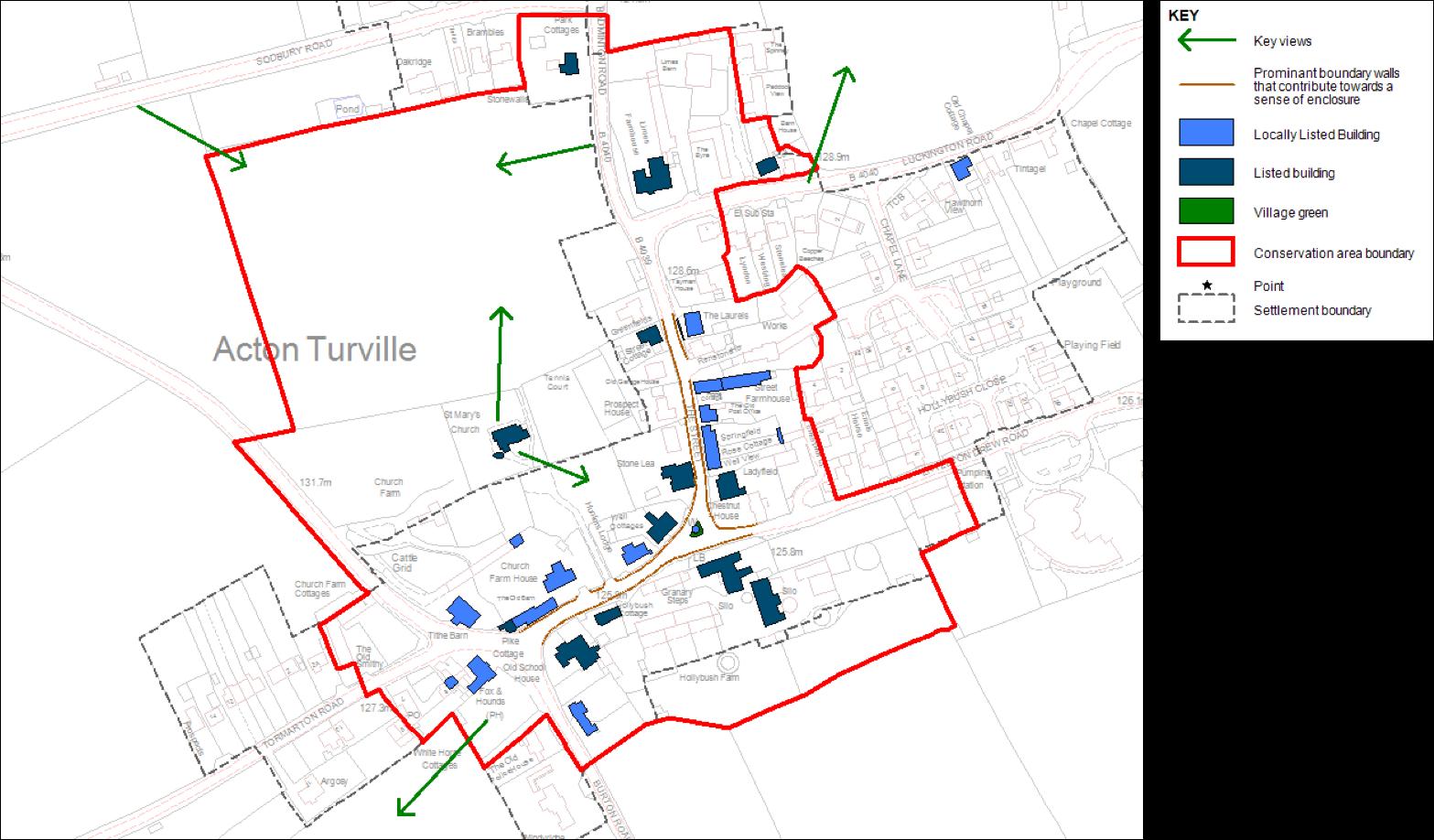 summary map of acton turville