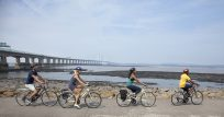 Photo of cyclists on major cycle route