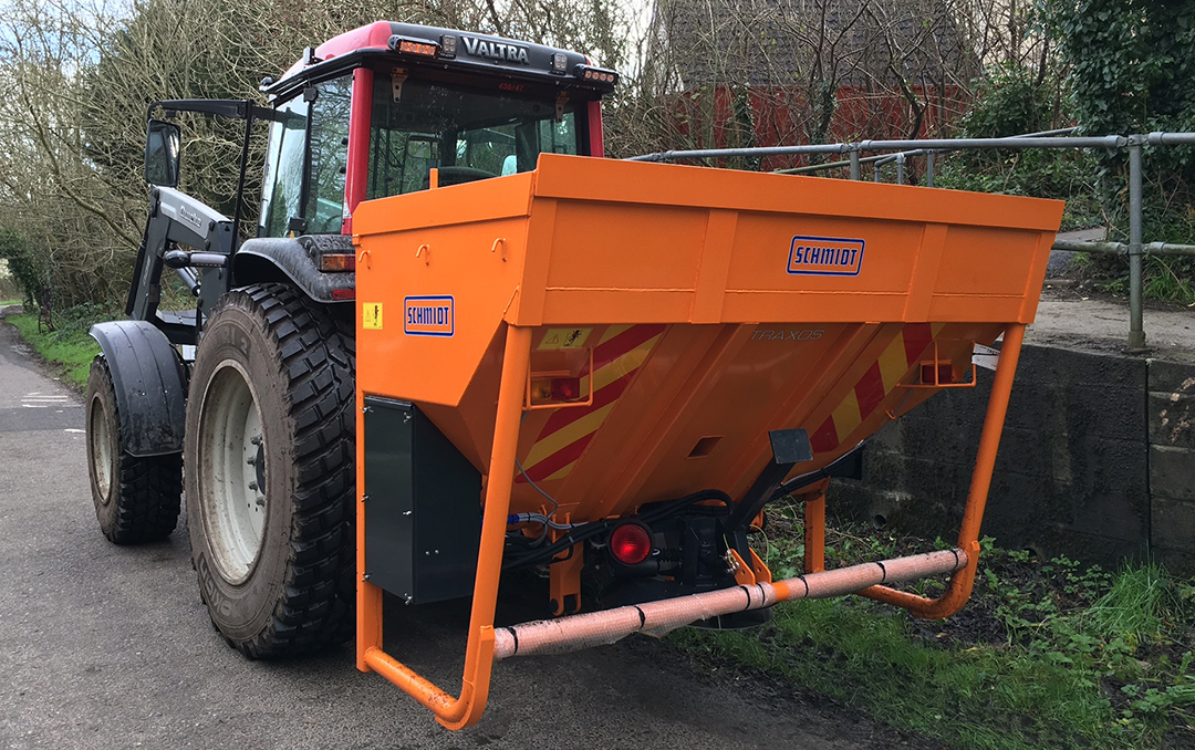 Photo of Tractor mounted grit spreader for cycleways