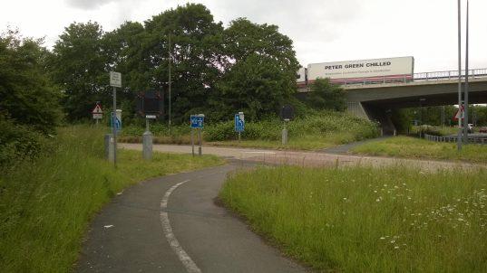 Photo of M32 Slip road Before