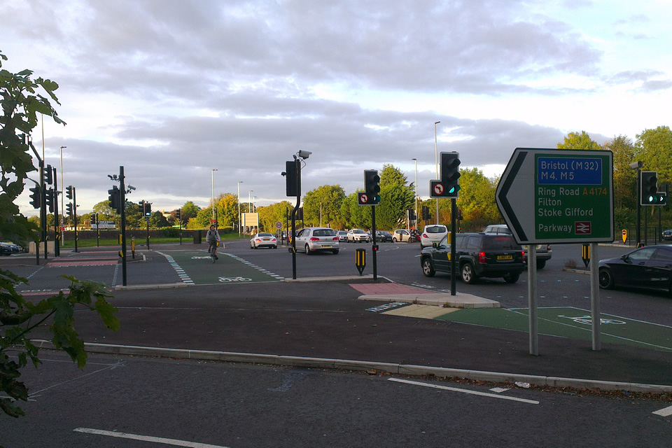 Photo showing Hambrook junction cycle crossing