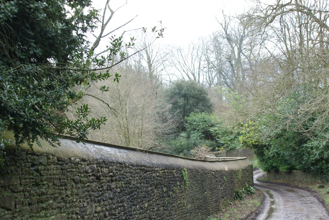 Figures 12 and 13. Narrow lanes through Dyrham
