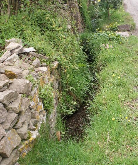 A stream adjacent to lanes through Dyrham