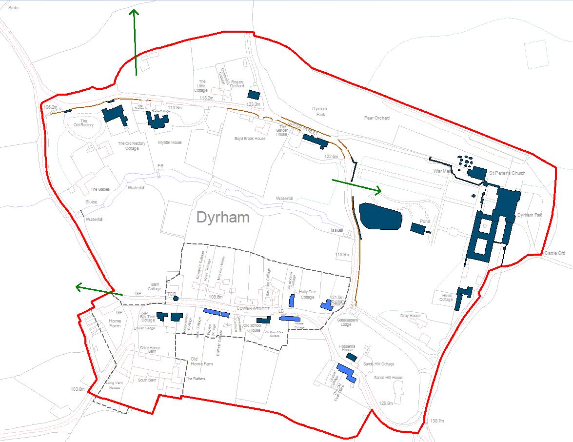 A map of Dyrham