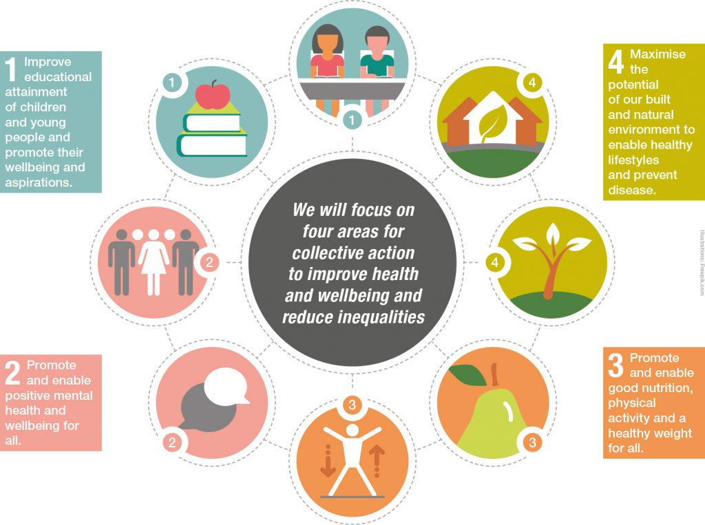 Infographic showing our areas of focus