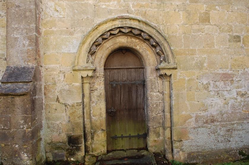 Figure 7: North doorway of the Norman Hall