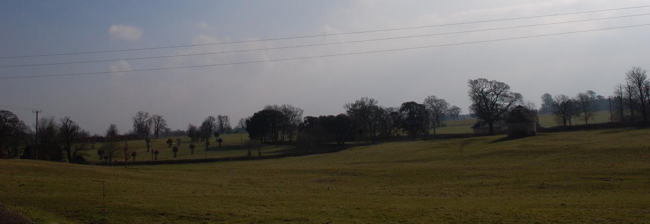 Views looking south from the church, Church Lane