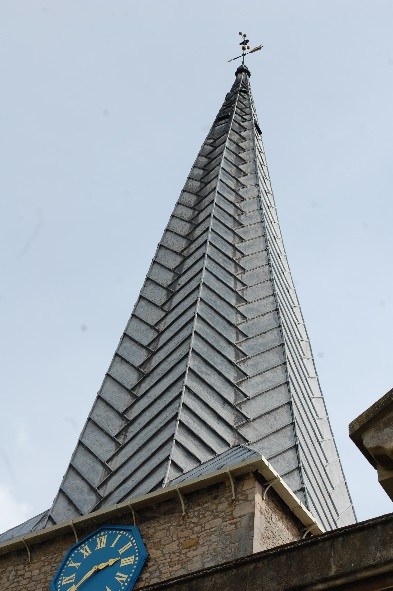 Figure 6: Diagonally patterned spire