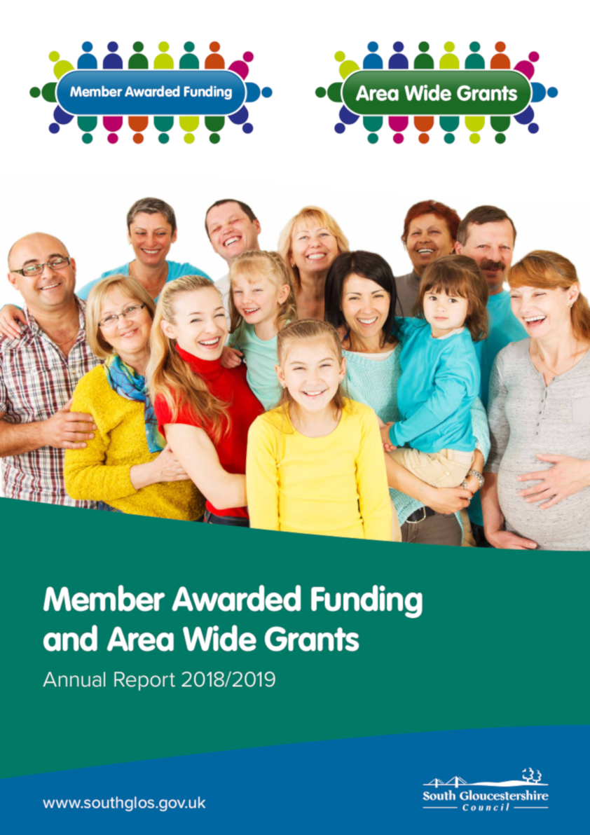 Member Awarded Funding (MAF) and Area Wide Grants (AWG) Annual Report 2018/19