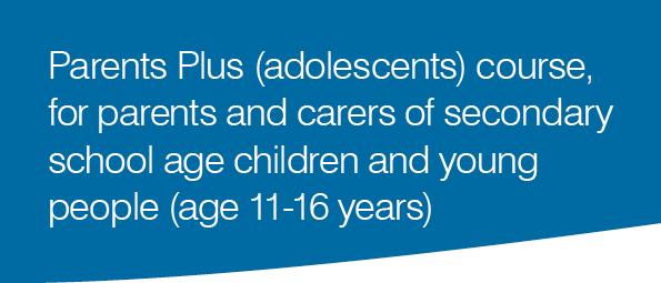 Parents Plus (adolescents) course