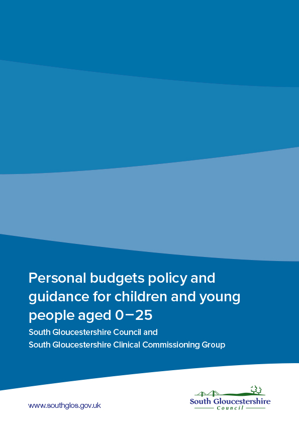 Personal budget policy and guidance for children and young people aged 0-25