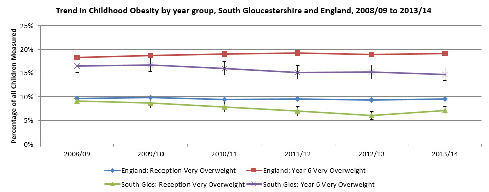 Obesity by year group