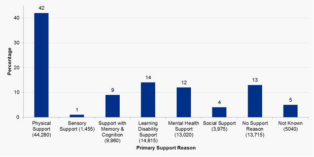 Primary support reasons in England