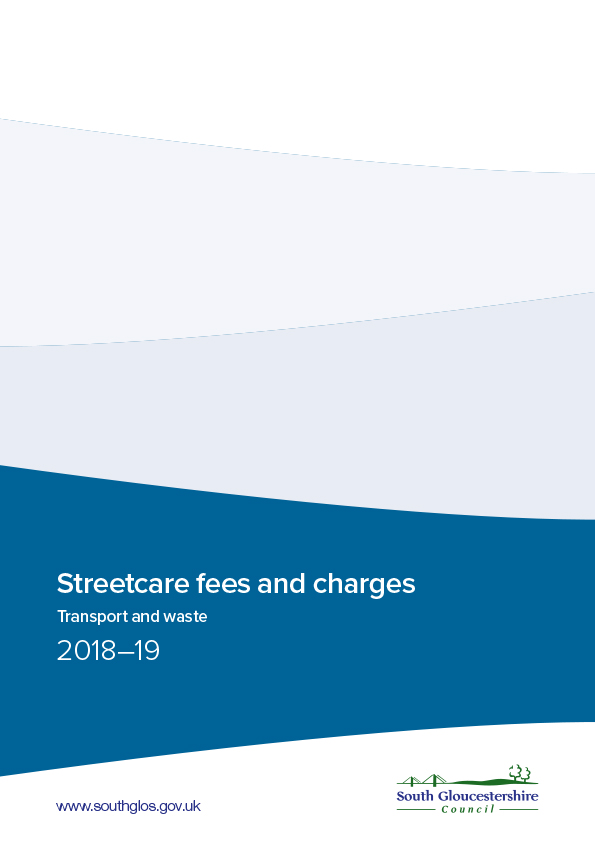 Streetcare fees and charges 2018-19