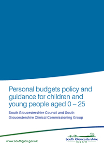 Personal budgets policy and guidance for children and young people aged 0 - 25