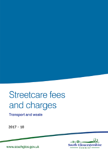 Streetcare fees and charges 2017/18