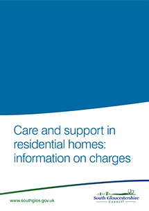 Care and support in residential homes: information on charges